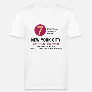 d747fd7d048 New York City Subway Subway 7 Manhattan Queens NYC - Men s Organic T-Shirt