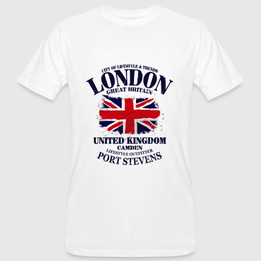 London - Union Jack Vintage Flag - Männer Bio-T-Shirt