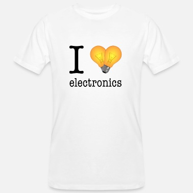 Electronic Technology I love Electronics - electronics / gift idea - Men's Organic T-Shirt
