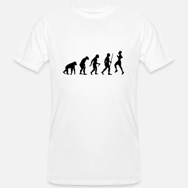 Runing Evolution - Retro Running - T-shirt bio Homme