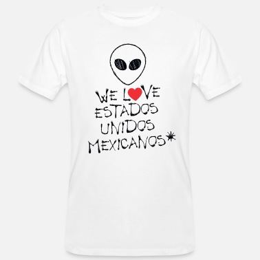 Mexicano WE LOVE ESTADOS UNIDOS MEXICANOS (Mexico) - Men's Organic T-Shirt