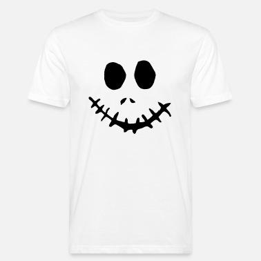 52794320 Halloween skummelt ansiktsmaske zombie horror spøkelse - Økologisk T-skjorte  for menn