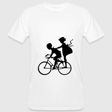 Kids Bicycle Silhouette Hobby Gift Idea Sport - Men's Organic T-Shirt