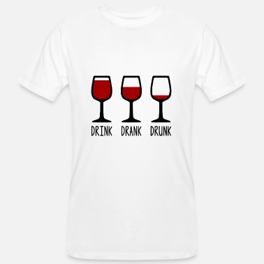 Red Wine Bevi Drank Drunk Wine Red Wine - T-shirt ecologica da uomo