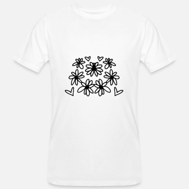 Hippies-make-love Flowers Heart Hippie Love Love Flower Power - Men's Organic T-Shirt