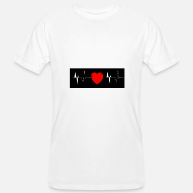 Lgbt Heart beat - Men's Organic T-Shirt