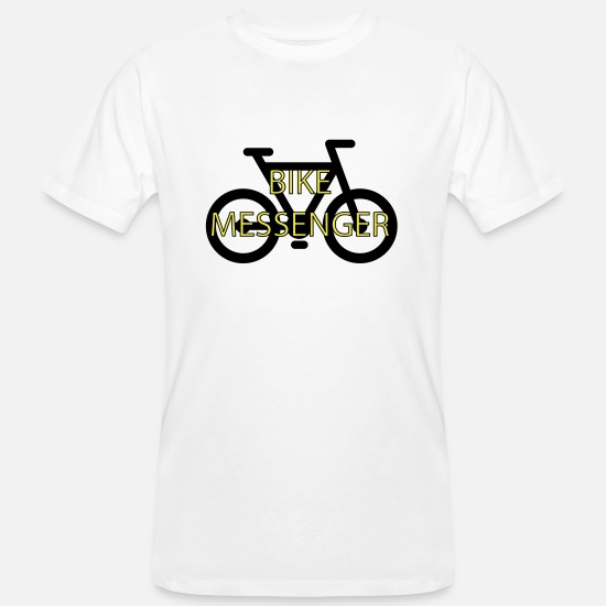 Bike Messenger T-Shirts - Bike Bike Messenger messenger - Men's Organic T-Shirt white