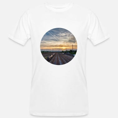 Television Tower Nuremberg, Sunset, Station, Television Tower - Men's Organic T-Shirt
