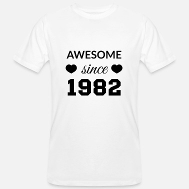 Awesome Since awesome since 1982 - Men's Organic T-Shirt