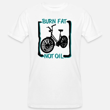 Fat Bike burn fat, not oil - T-shirt bio Homme