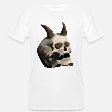 Devil Horns Skull with Devil Horns - Männer Bio-T-Shirt