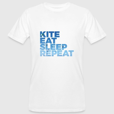 Kite Kite Eat Sleep Repeat - Männer Bio-T-Shirt
