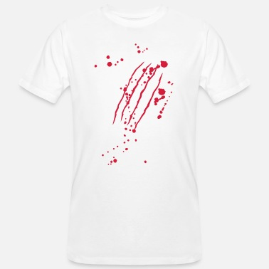 Blood Scratches Scratch with blood - Halloween - horror zombie-blood - Men's Organic T-Shirt