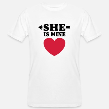 She Jag älskar dig  I love you my girlfriend boyfriend - Ekologisk T-shirt herr
