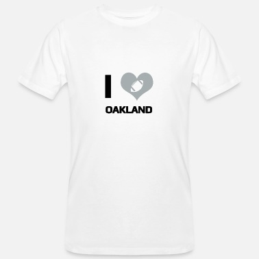 Oakland Raiders I love Oakland - Männer Bio T-Shirt