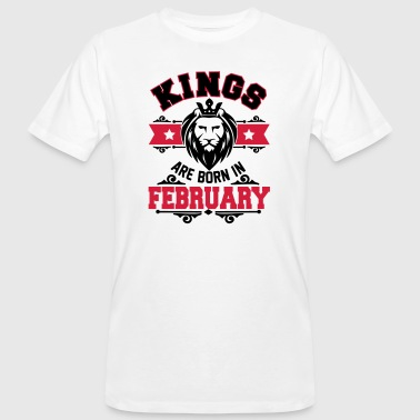 Kings are born in February - Geburtstag - Löwe - T-shirt bio Homme