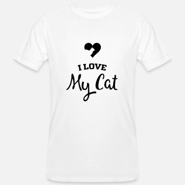 I Love My Cat I LOVE MY CAT - T-shirt bio Homme