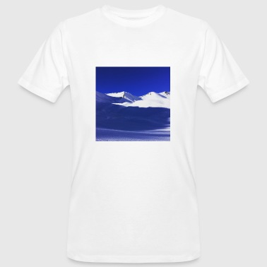 Blue and White Snow Mountains - Men's Organic T-shirt