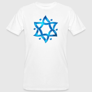 6 Point Star, Merkaba, Star of David, Hexagram, Solomon - T-shirt ecologica da uomo