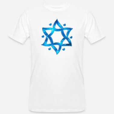 Siegel Des Salomon 6 Point Star, Merkaba, Star of David, Hexagram, Solomon - Männer Bio-T-Shirt
