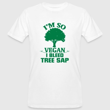 Cow Shape I'M SOOO VEGAN - I FLOWERING TREE RESIN! - Men's Organic T-Shirt