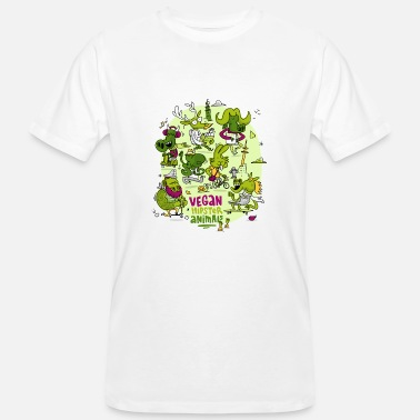 Hipster Animales Veganos Hipster Animales - Camiseta ecológica hombre