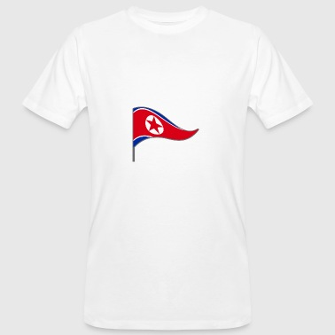 North Humberside North Korea Asia flag flag country color Kim - Men's Organic T-Shirt