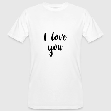 I Love You Vriendin I love you black - Mannen Bio-T-shirt