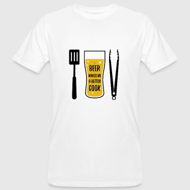 Beer barbecue cuisson cadeau barbecue pinces cuisson - T-shirt bio Homme