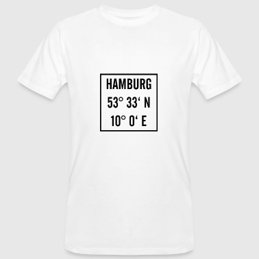 Latitude Hamburg black with latitude and longitude - Men's Organic T-Shirt