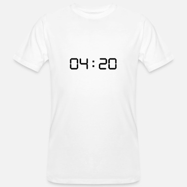 Digital Display 420 digital clock - Men's Organic T-Shirt