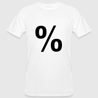 Percent percent - Men's Organic T-Shirt