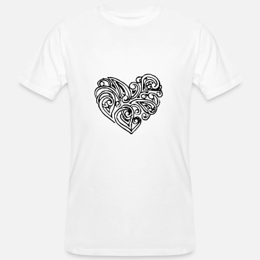 Stylish Stylish heart - Men's Organic T-Shirt