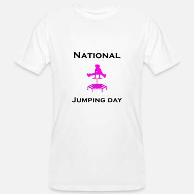 Jumping National Jumping Day - Jumping - Männer Bio-T-Shirt