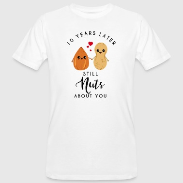 10 years later still nuts about you -10. Jahrestag - Männer Bio-T-Shirt