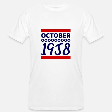 October 1958 Birthday present October 1958 - Men's Organic T-Shirt