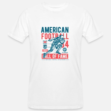 Hall Of Fame 1984 American Football Design - Men's Organic T-Shirt