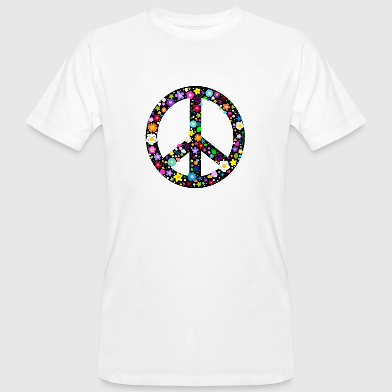 Flower Peace Sign Buttons - Men's Organic T-shirt