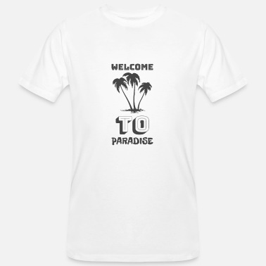 Paradise Welcome to Paradise - Männer Bio T-Shirt