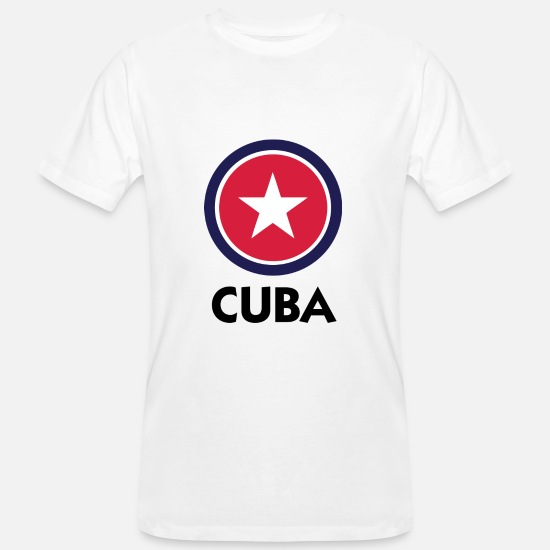 Caribbean T-Shirts - A star for Cuba - Men's Organic T-Shirt white
