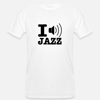 Dixieland I love jazz / I music jazz - Økologisk T-skjorte for menn