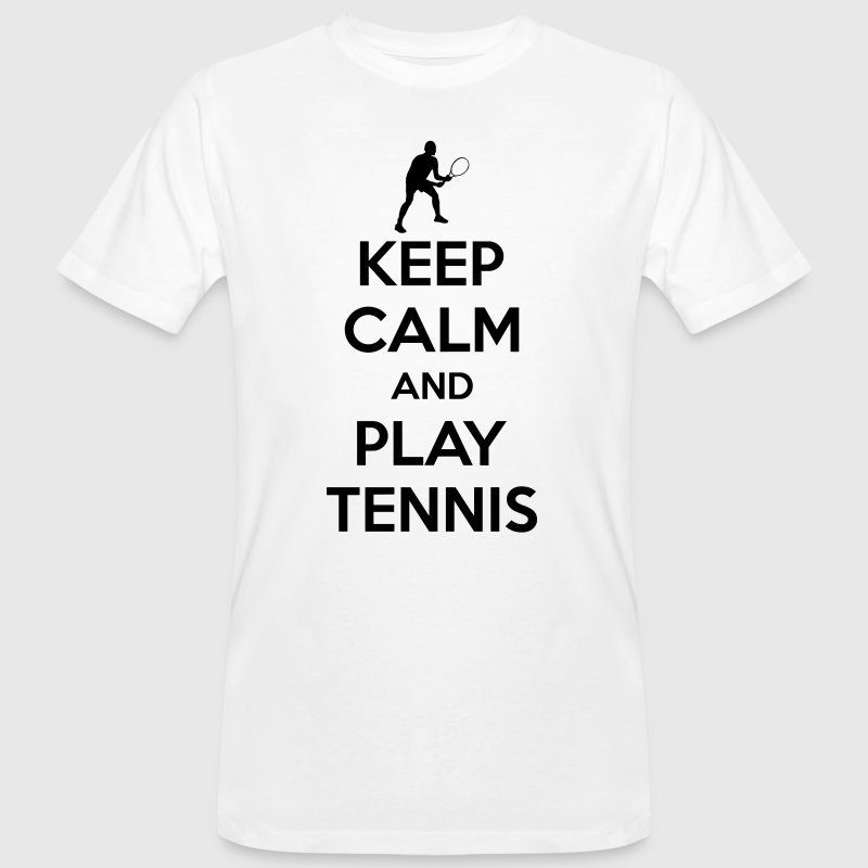 Keep calm and play Tennis - Mannen Bio-T-shirt