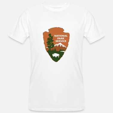 Nationalpark nationalpark service logotyp - Ekologisk T-shirt herr