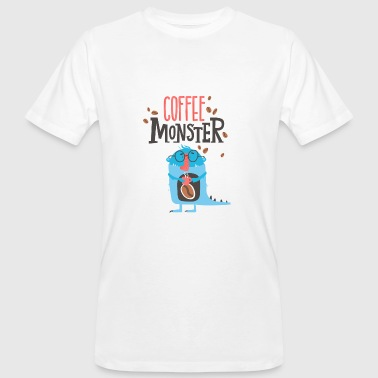 Coffee Monster - caffeine addiction tired - Men's Organic T-shirt