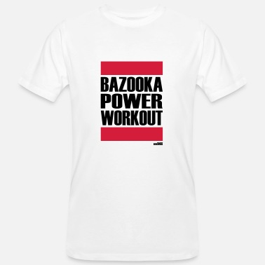 Bazooka BAZOOKA POWER WORKOUT - Økologisk T-skjorte for menn