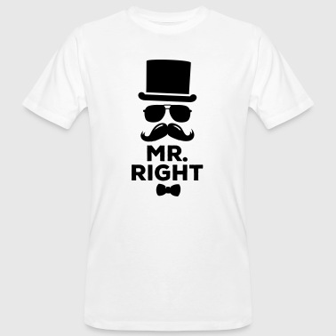 Lustige paarweise Mr. Right und Mrs. Right t-shirts - Männer Bio-T-Shirt
