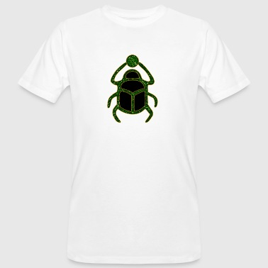 scarabeo - Scarab Amulet for Strength & Courage / Protection Amulet, green / - T-shirt ecologica da uomo