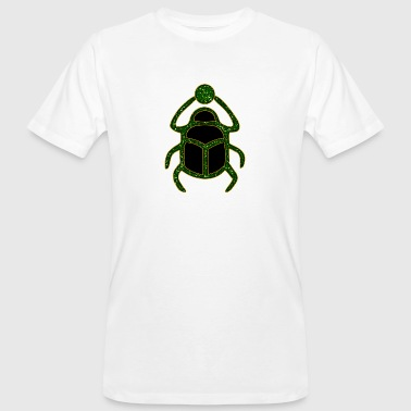 Scarab Amulet for Strength & Courage / Protection Amulet, green / - Økologisk T-skjorte for menn