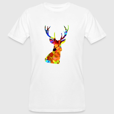 Retro deer silhouette in the abstract 70s look - Men's Organic T-Shirt