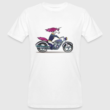 Badass Unicorn on a motorcycle - Men's Organic T-shirt
